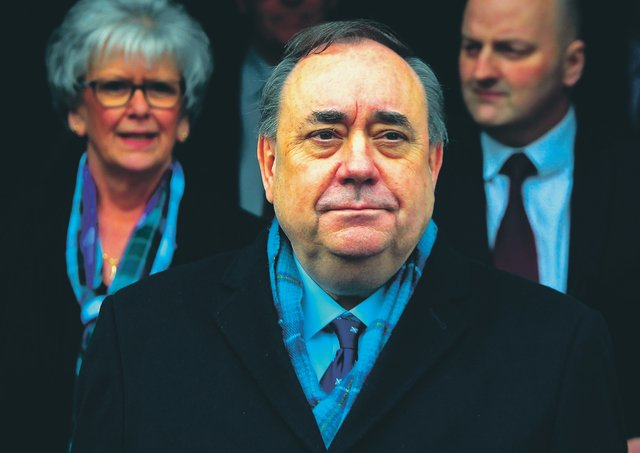 Alex Salmond leaves the High Court in Edinburgh on March 23, 2020, after being acquitted. Picture AP