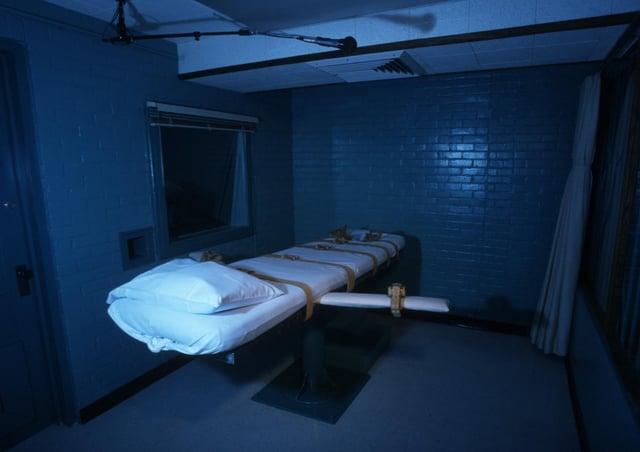 An execution death chamber in Huntsville, Texas,