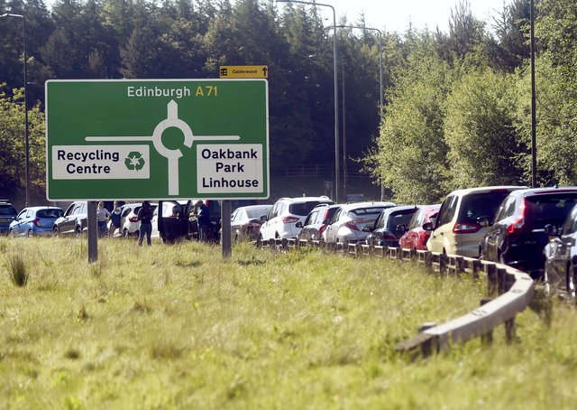 Increased traffic is a sign that the economy is starting to pick up (Picture: Lisa Ferguson)
