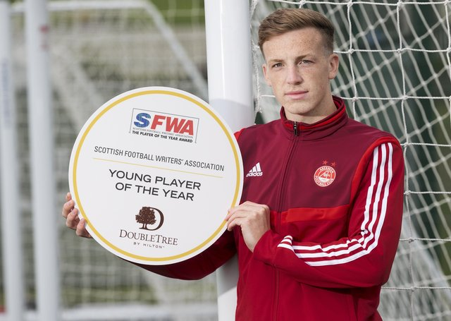 Aberdeen midfielder Lewis Ferguson has been named young player of the year by football writers. Picture: Steve Welsh