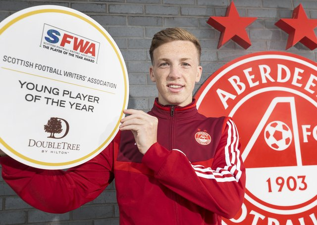 Aberdeen midfielder Lewis Ferguson says the Pittodrie club can match his ambition. Picture: Steve Welsh