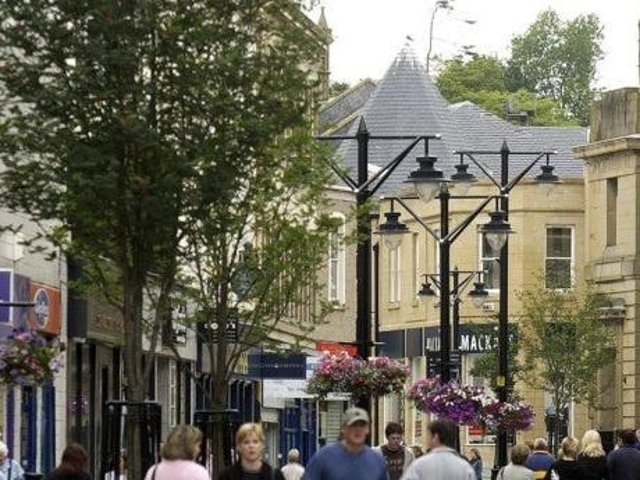 Economic activity in town centres like Kilmarnock, pictured, has been crippled by the coronavirus
