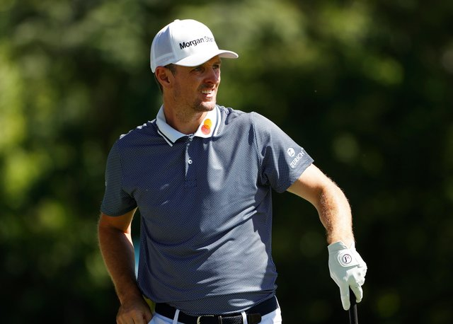 Justin Rose of England plays his shot from the third tee during the first round of the Charles Schwab Challenge at Colonial Country Club in Fort Worth, Texas. Picture: Tom Pennington/Getty Images