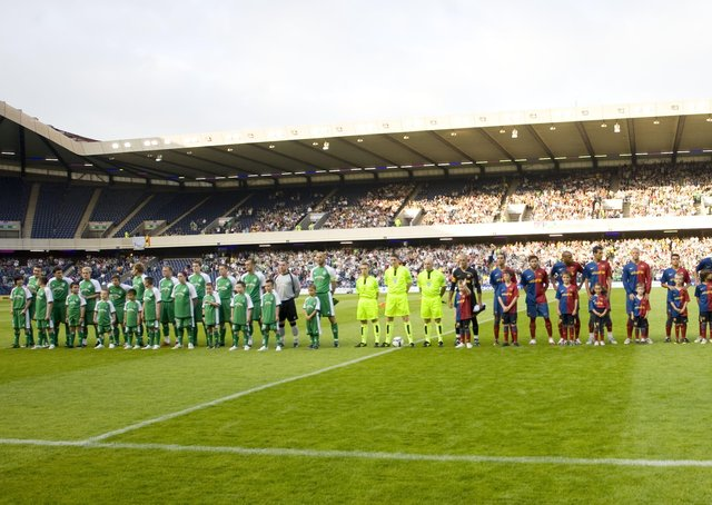 Hibs hosted Barcelona at Murrayfield in a pre-season friendly in 2008. Picture: SNS