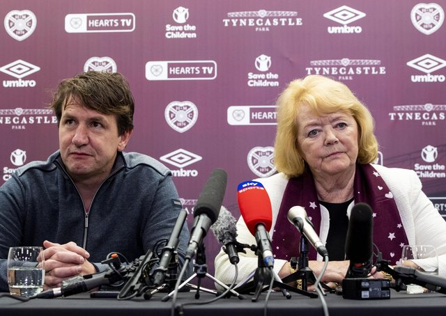 Hearts owner Ann Budge wants to appoint a sporting director before making a decision on the future of manager Daniel Stendel.  Picture: Craig Williamson / SNS