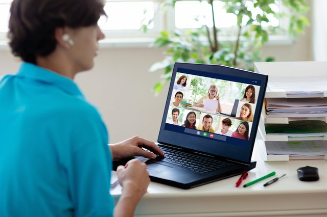 Video conferencing has opened up new questions about what is, and is not, polite (Picture: Getty)