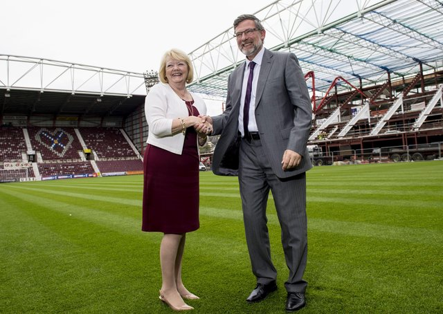 Prospects looked brighter as Ann Budge unveils Craig Levein as Hearts' manager, but it was destined to  go wrong. Picture: SNS