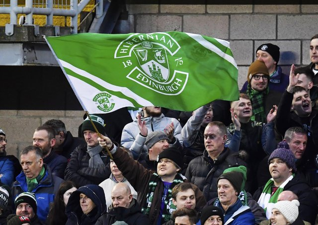 Hibs fan Terry Christie loves the whole matchday experience. Picture: Rob Casey/SNS