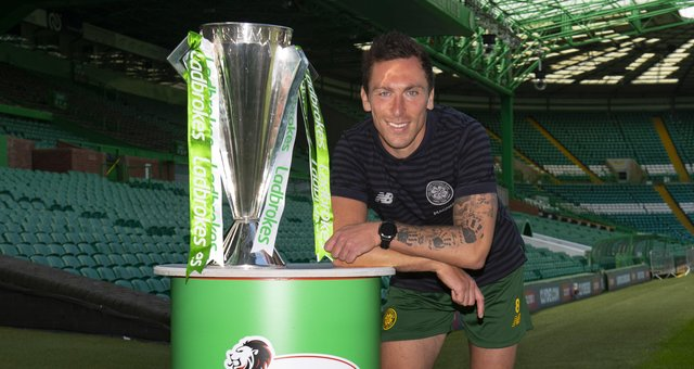 After leading Celtic to a ninth straight title, Scott Brown now has his sights set on ten-in-a-row. Picture: SNS