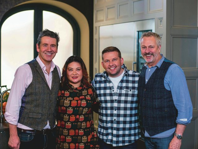 In the first episode of The Great Food Guys, filmed before lockdown, Dougie Vipond and Nick Nairn are joined in the kitchen by Edinburgh chef Kaori Simpson of  Harajuku Kitchen and The A Word actor Greg McHugh. Picture: BBC Studios