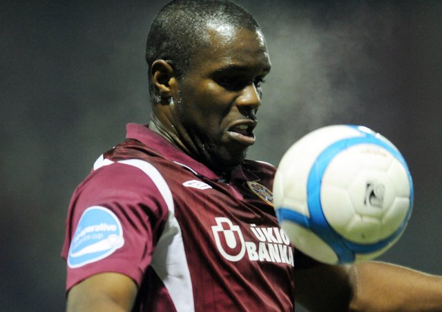 Former Hearts player Christian Nade says the first thing he does after signing for a new club is check if there are any other black players in the squad. Picture: Phil Wilkinson