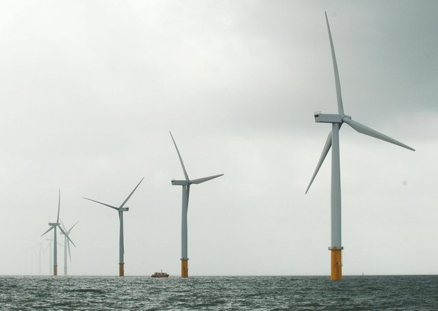 An offshore wind farm (Picture: Anna Gowthorpe/PA Wire)