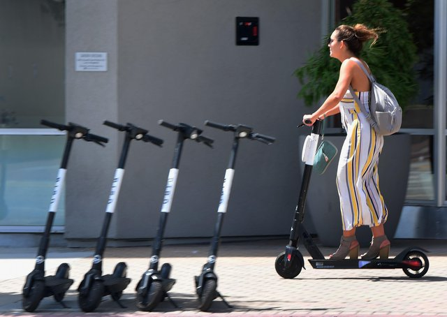 E-scooter trials are currently taking place in England, Scotland and Wales with only selected rental vehicles allowed (Picture: AFP/Getty)