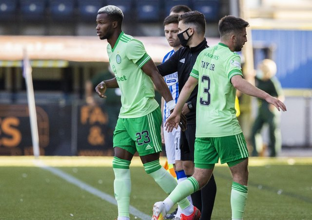 Boli Bolingoli comes on off the bench during Celtic's 1-1 draw at Kilmarnock on Sunday