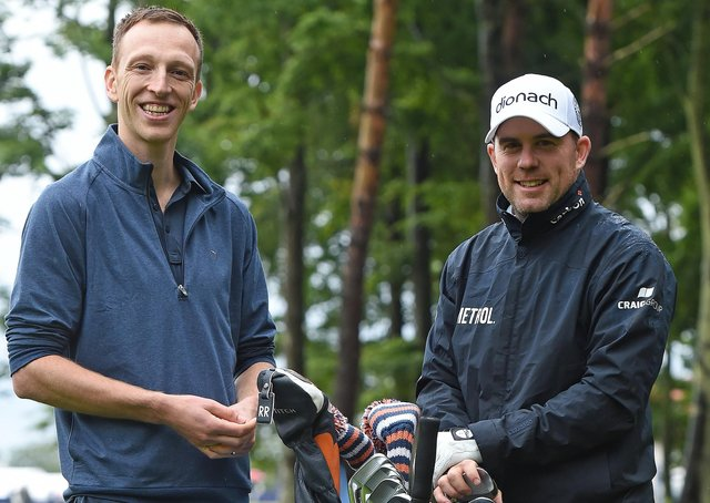 European Tour doctor, Andrew Murray, left, with Richie Ramsay. Picture: Mark Runnacles/Getty Images