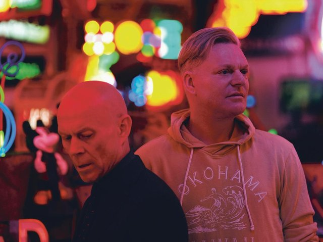 Vince Clarke and Andy Bell. Erasure's new album, The Neon, celebrates their synth sound and left-field love of pop. Picture: Phil Sharp