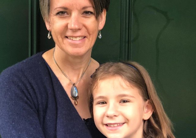 Jeanette Aitchison and daughter Isla, nine