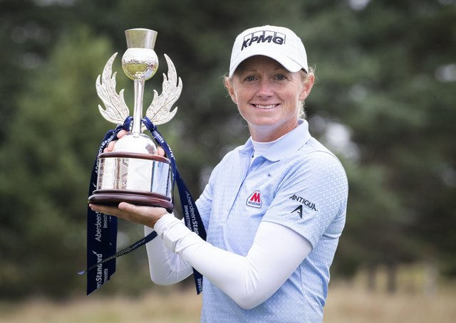 The Ladies Scottish Open gained a great champion when Stacy Lewis claimed the title at the Renaissance Club. Picture: PA