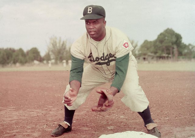 Jackie Robinson of the Brooklyn Dodgers became the first African American to play in Major League Baseball. Picture: Getty Images