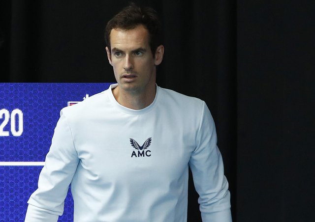 Andy Murray at the Battle of the Brits event at Roehampton. Picture: Clive Brunskill/Getty