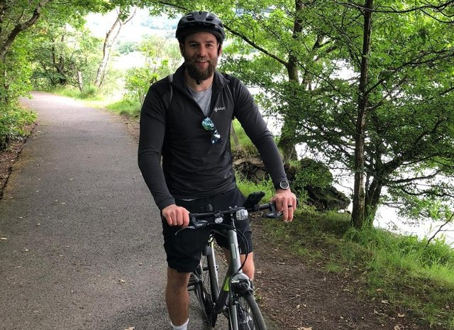 Ruaridh Jackson has agreed to cycle the Caledonian Way for charity.