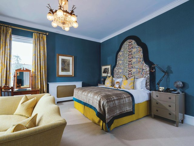 One of the 18 individually designed hotel rooms at The Torridon