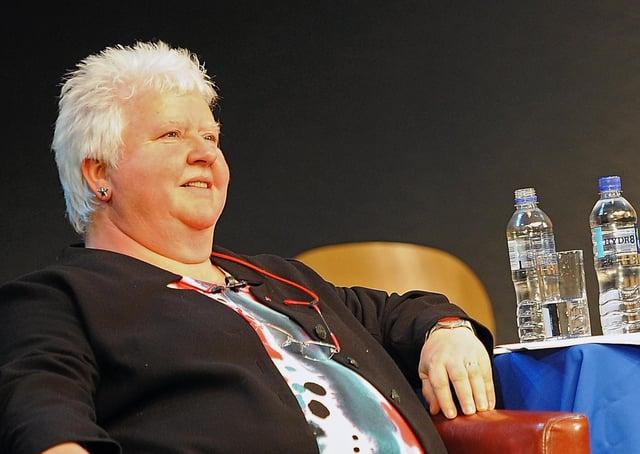 Scottish crime writer Val McDermid