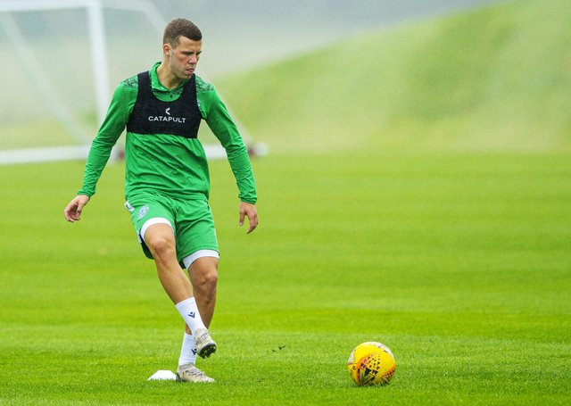 Out-of-favour Florian Kamberi has been back training with Hibs ahead of the new season. Picture: SNS