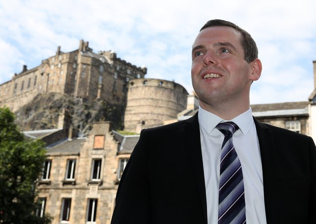 Scottish Conservative MP Douglas Ross in Edinburgh, after he confirmed he would stand for leader of the Scottish Conservatives