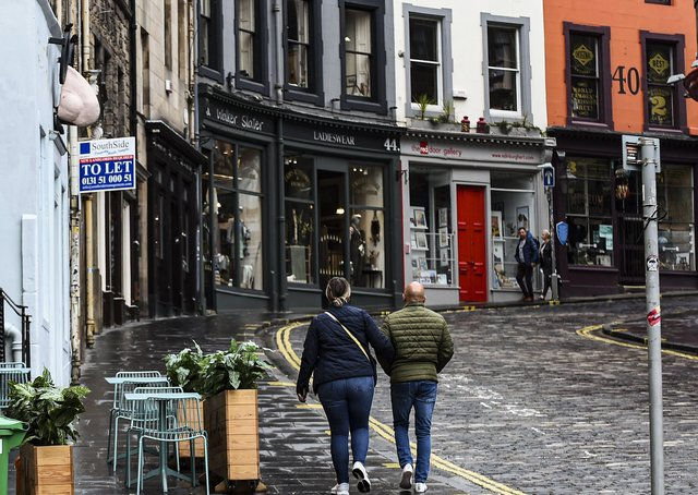 Streets that would usually be packed with Festival-goers are eerily quiet (Picture: Lisa Ferguson)