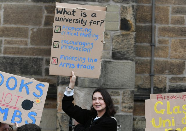 Changing the criteria of what taxpayer funding can support would mean student activists would have to put their hands in their own pockets to finance their militancy. Picture: John Devlin