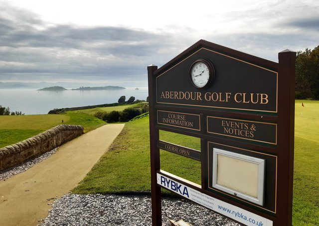 Aberdour was the setting for a senior four-ball better-ball Open won with a net score of 54.