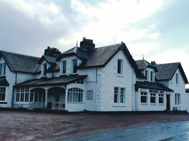 Whitebridge Hotel, Stratherrick, Inverness, on the south west of Loch Ness. The hotel's name comes from the General Wade bridge over the River Fechlin.