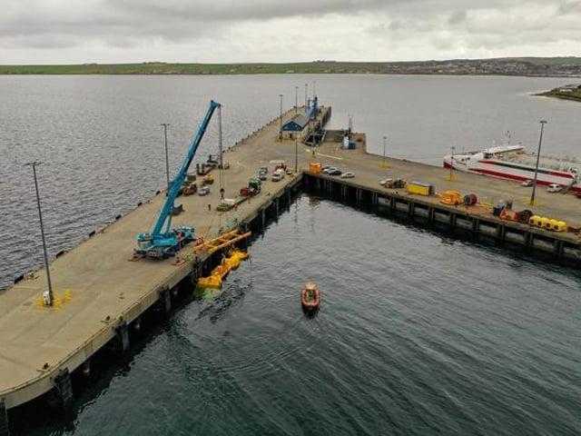 Mocean Energy Blue X at Hatston Pier. Picture: Colin Keldie, courtesy of EMEC