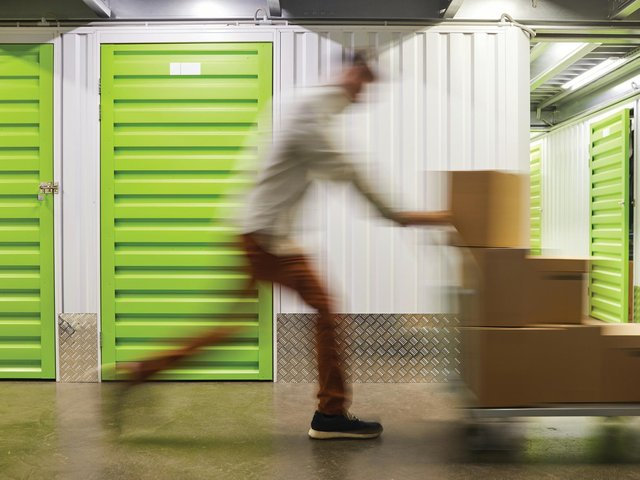 The UK has hit a record 82 per cent occupancy rate for storage space. Picture: Shutterstock