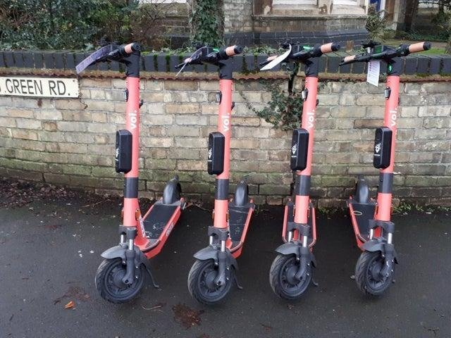 E-scooters, pictured here in Kettering, were rolled out in Corby last month.