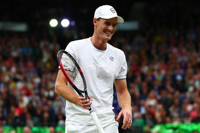 Jamie Murray in action at Wimbledon last year.