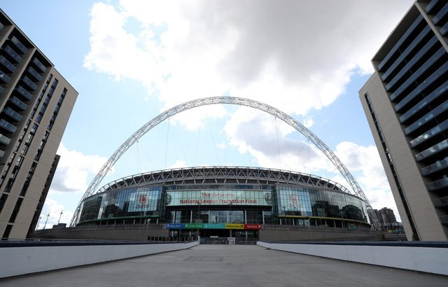 Wembley will host the Auld Enemy clash, as well as a semi-final and the final of Euro 2020 (Photo by Catherine Ivill/Getty Images)