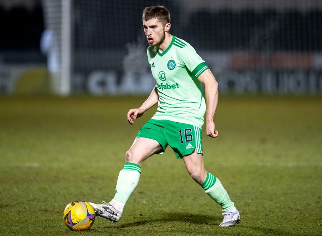 """Solid full-back Jonjoe Kenny is """"loving every minute"""" of his Celtic loan spell in the hurly burly of Scottish football. Photo by Rob Casey / SNS Group)"""
