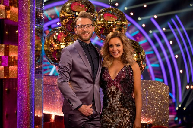 JJ Chalmers with Strictly partner Amy Dowden