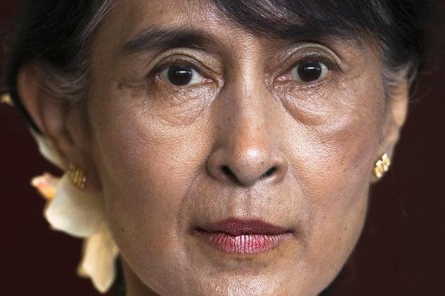Myanmar leader Aung San Suu Kyi. Picture: AP Photo/Markus Schreiber, File