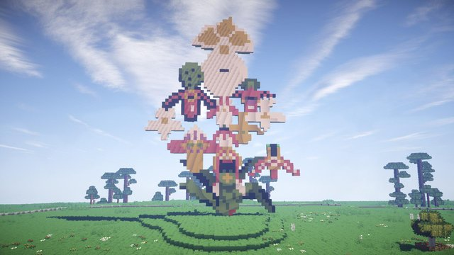 Jupiter Artland is home to more than 30 sculptures and has been recreated in computer game, Minecraft, 2021.