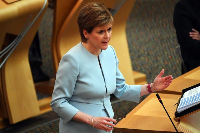 Nicola Sturgeon was questioned about healthcare staff Covid deaths during First Minister's Questions.