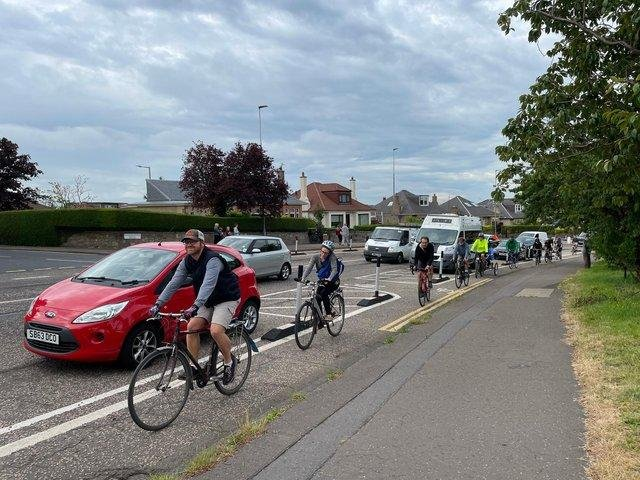 A massive turnout underlined the strength of feeling about the Lanark Road cycle lane