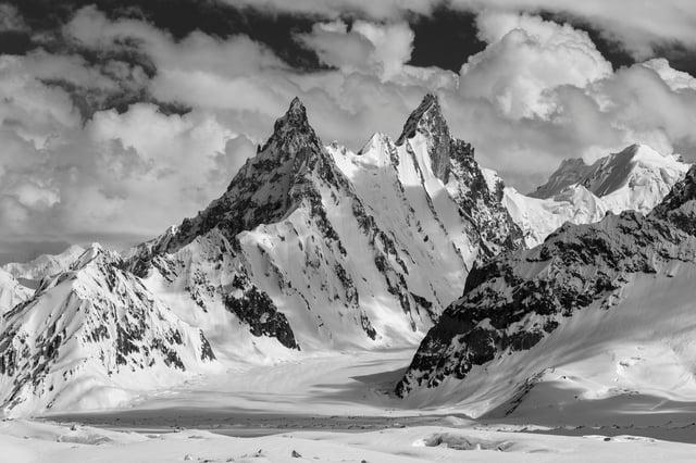 Ghur (5796 m), Biafo Glacier, Panmah Mustagh, Karakoram Mountains, Pakistan PIC: Colin Prior