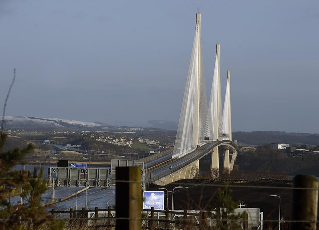 There have been four incidents and three closures involving ice falling from the Queensferry Crossing. Picture: Lisa Ferguson