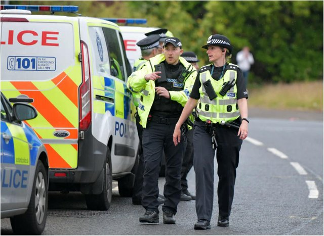Police Scotland to double its presence in border areas as new restrictions are put in place.