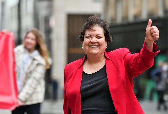 Jackie Baillie, Scottish Labour Health spokesperson, is fighting to retain the seat of Dumbarton. Picture: John Devlin