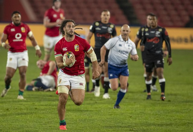 Josh Navidi impressed on his Lions debut against the Sharks at Ellis Park. Picture: Themba Hadebe/AP