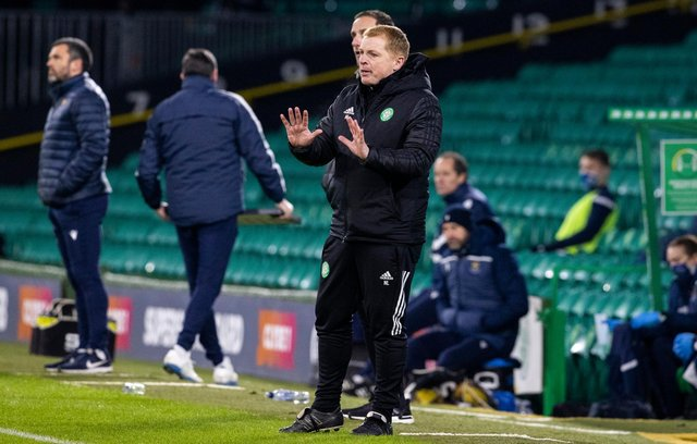 Celtic manager Neil Lennon during Sunday's draw with St Johnstone. Picture: SNS